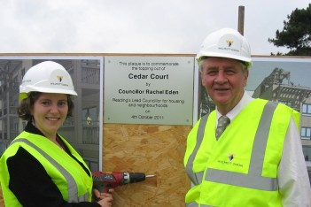 topping out Cedar Court
